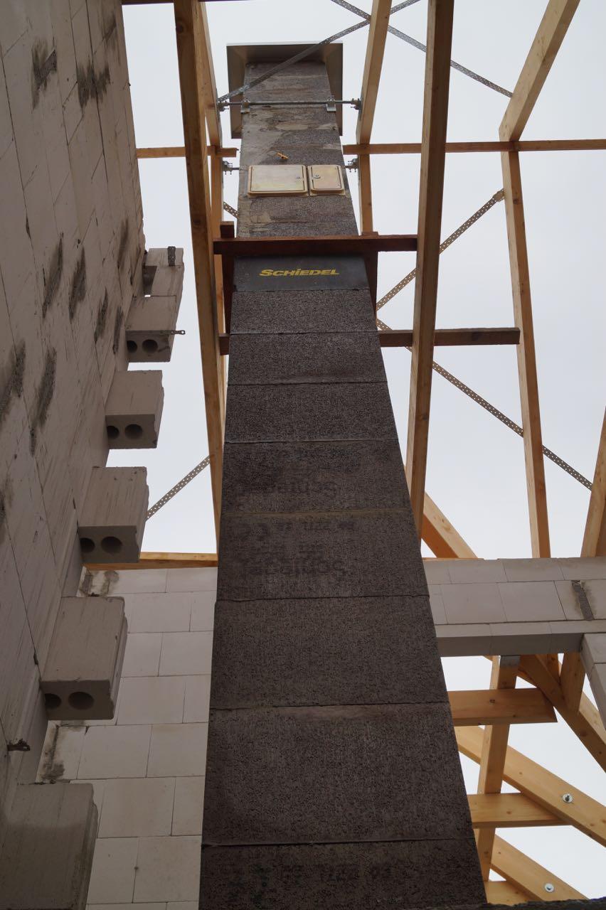 Aufbau Schornstein – 06