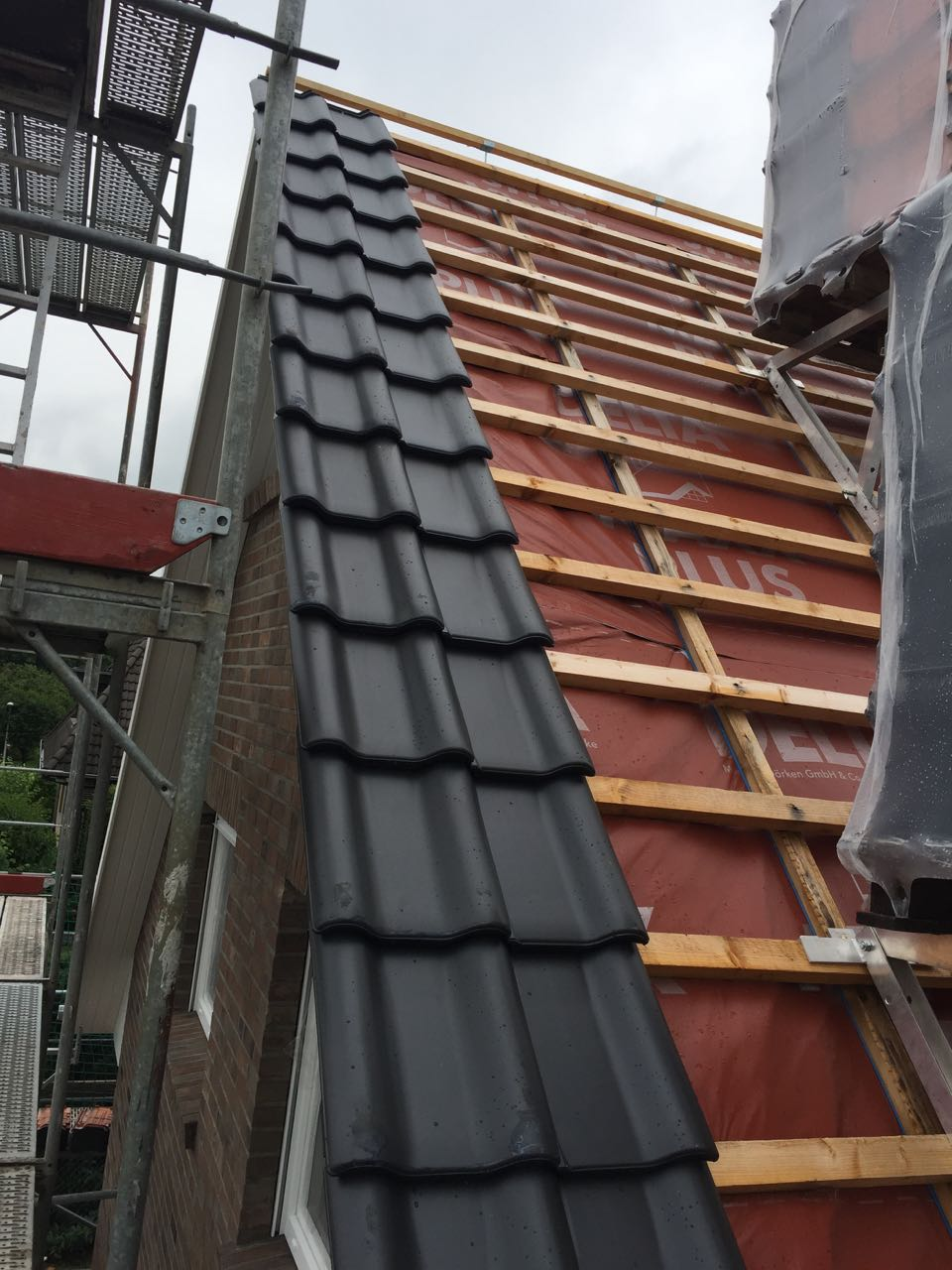 Beginn Dacheindeckung – 1