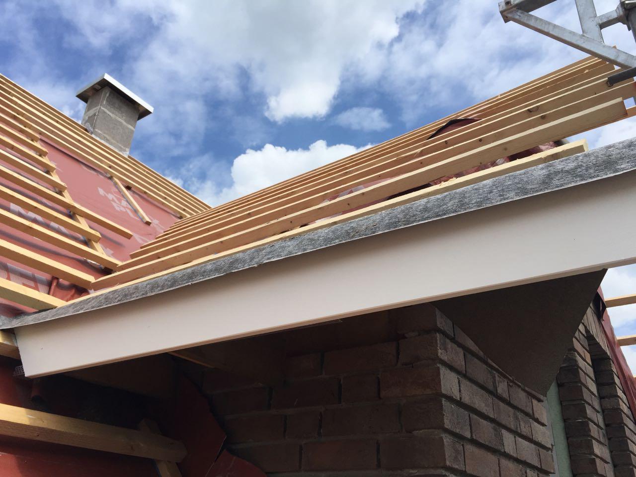 Dachüberstände streichen – 2